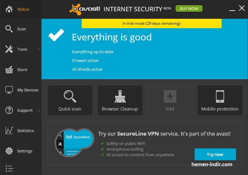 Avast Internet Security 2014 v. 9.0.2021 Free Lisans Key Download