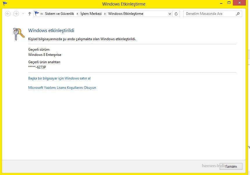 KMSpico Activator indir (Windows 8 & 8.1)