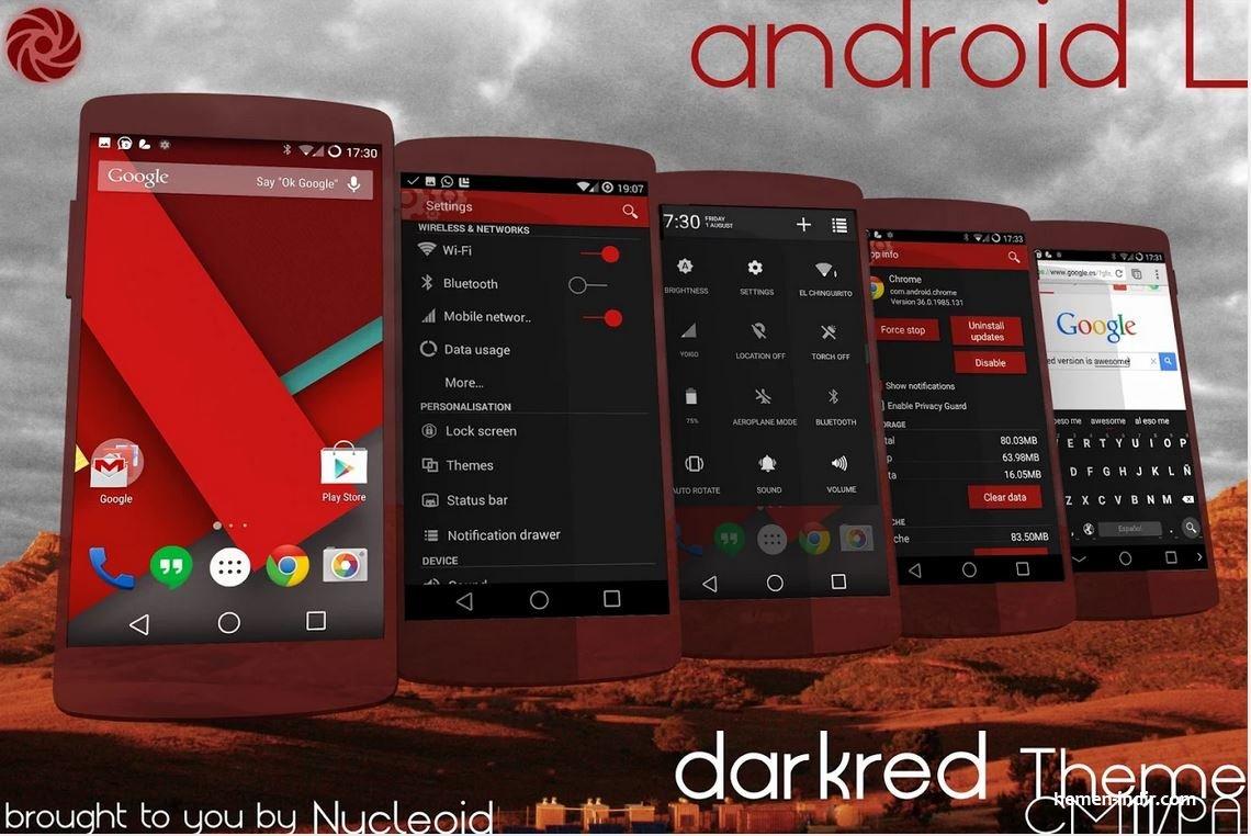 Lollipop 5.0 DarkRed Theme v2.c