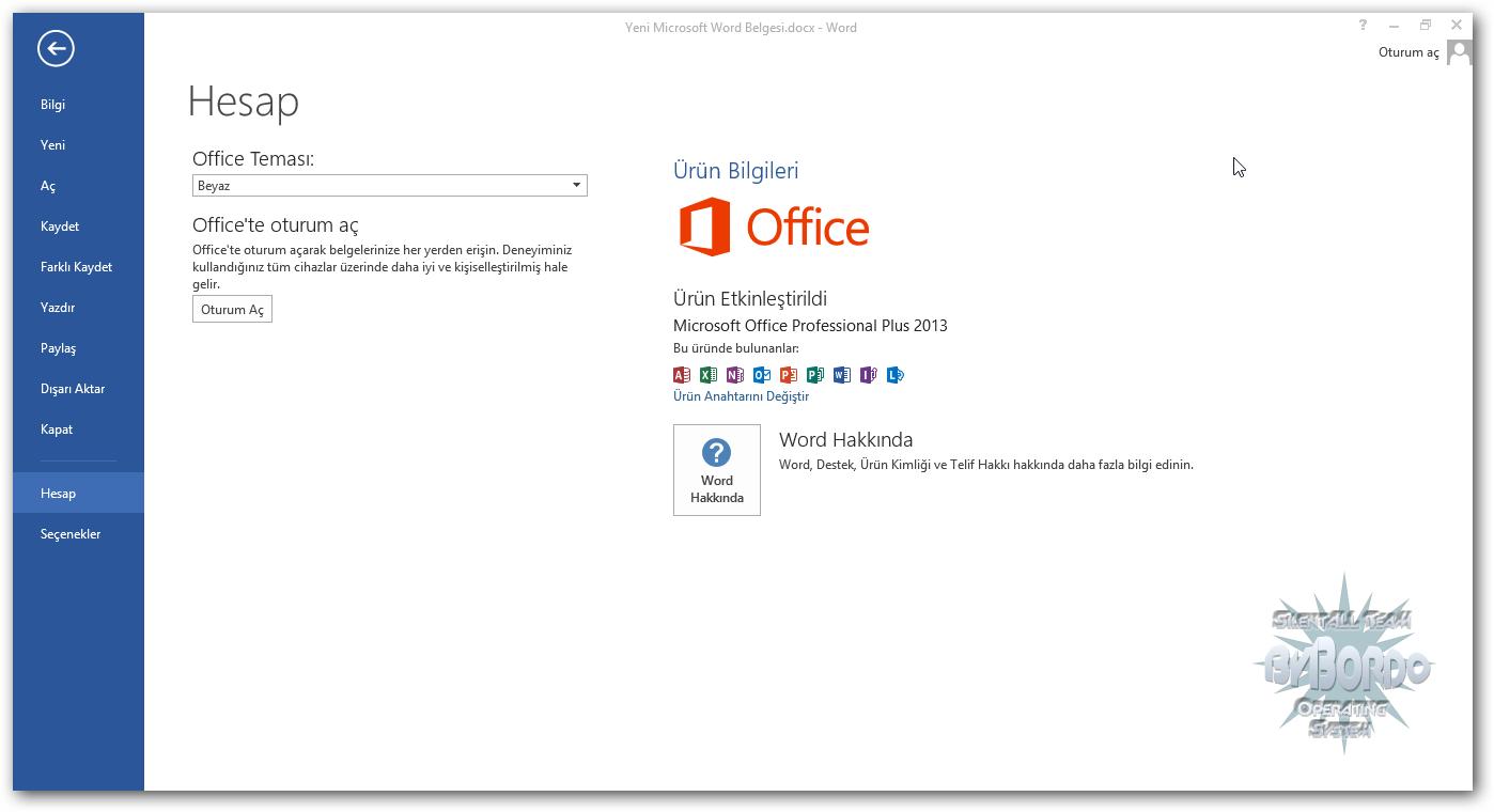 Office 2013 Katılımsız Pro VL (x86-x64) Türkçe indir