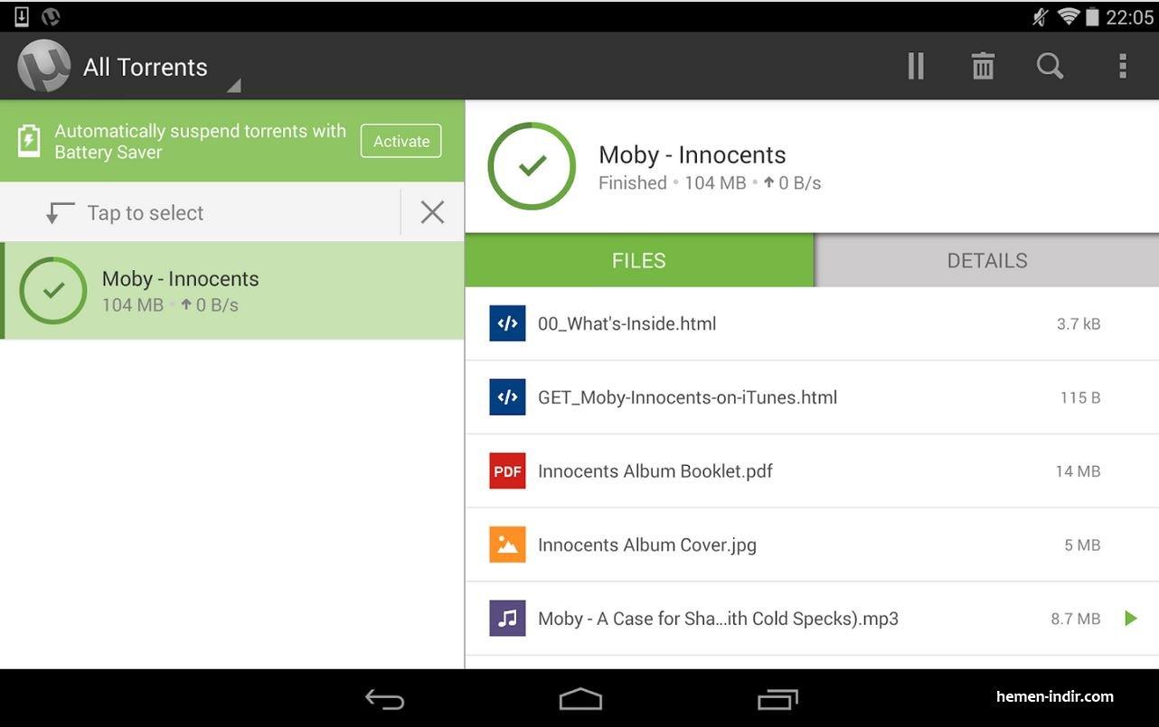 µTorrent® Pro - Torrent App v2.25 Android APK Download Full indir