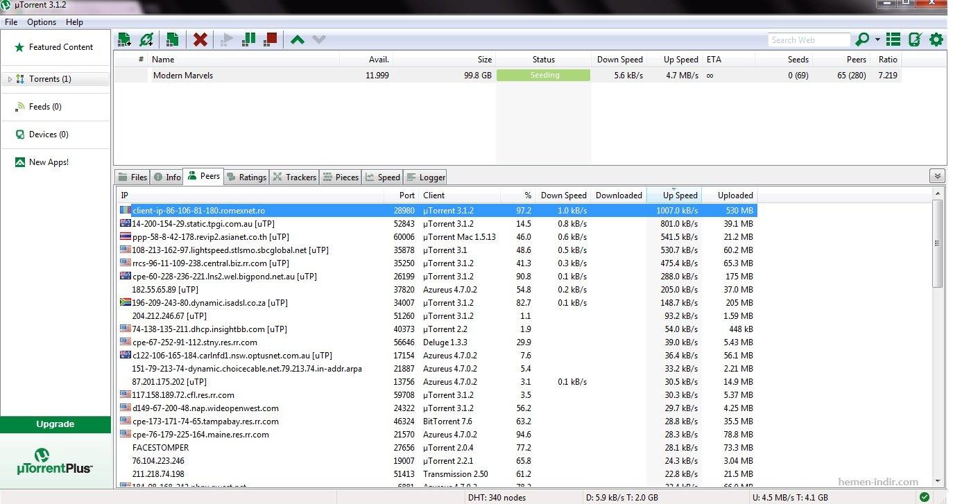 uTorrent 3.4.2 Build 36802 Stable Türkçe Download indir