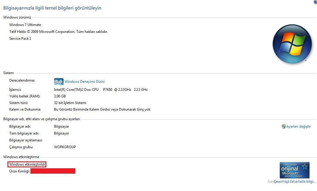Windows 7 Lisanslama (Windows 7 Loader) - Orjinal Yapma