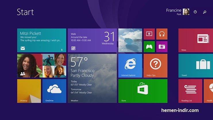 Windows 8.1 Update 2 Tüm Sürümler Turkce Ekim 2014 Full Download indir